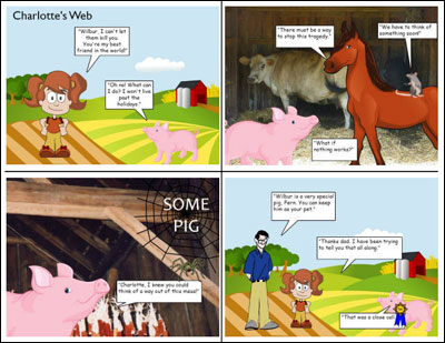 sample comic strip written by student