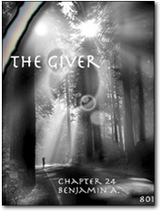 Student sample of The Giver Cover