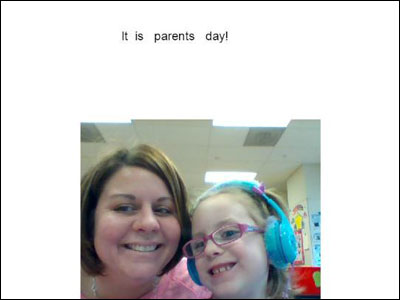 image of Wixie page from a parent day project