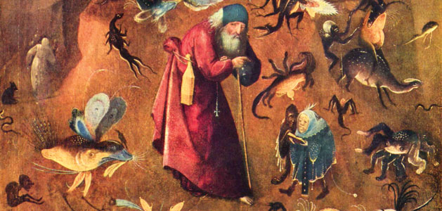 image close up of a Hieronymous Bosch painting