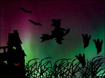 sample spooky scene with a silhouette