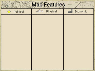 image of Wixie template for map features