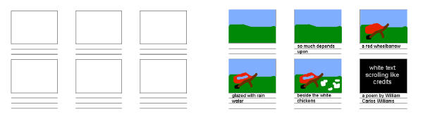 image of blank and complete storyboard